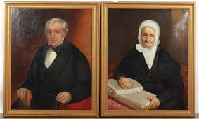 Pair Herrick Family Portraits, American, 19th C