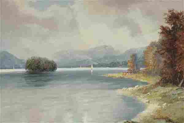 Herbert August Uerpmann - Lake Scene