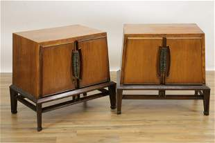 Pair Mid Century Modern Helen Hobey Night Tables