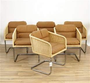6 Bauhaus Style Armchairs, possibly Umanoff