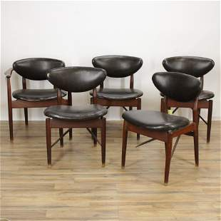 Five Niels Vodder (Finn Juhl) Danish Modern Chairs