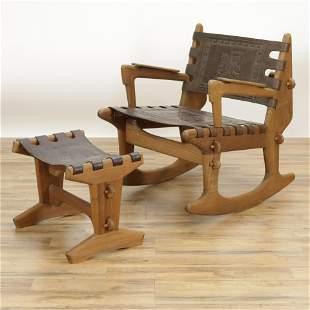 Angel Pazmino Chair and Ottoman