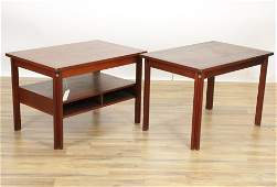 Two MCM Danish Teak Coffee and Side Tables
