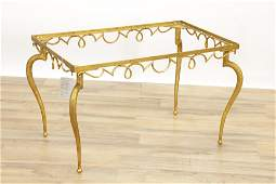 French 1940s Gilt Wrought Iron Coffee Table