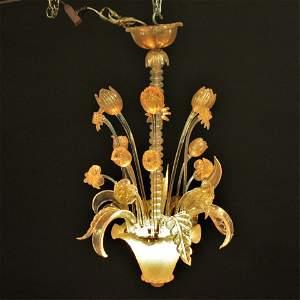 Venetian Gilt & Clear Glass Chandelier, c.1940