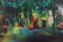 Antonio Estradera  Ramblas at Night Abstract