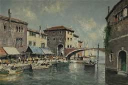 Otto Hellmeier - Boats in Venice