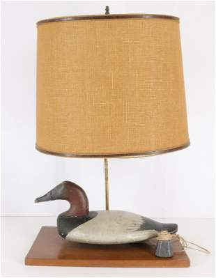 Carved & Painted Duck Decoy Lamp
