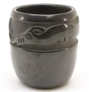 Blackware Pottery Jar, San Ildefonso Pueblo NM