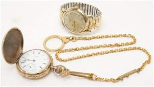 Elgin Ladies Pocketwatch; Longines Wristwatch
