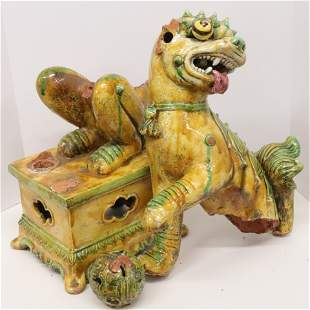 Large Chinese Tang Style Fu-Lion Pieces