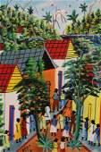 Gilbert Desir - Haitian Village Scene