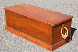 19th C. Pine Sea Chest