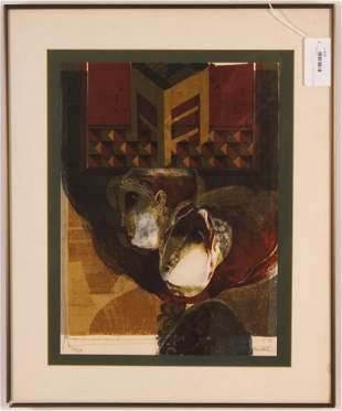 Alvar Sunol - Abstract Lithograph, 1979
