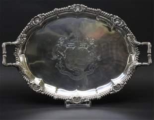 Paul Storr George III Tray - Robertson Crest, 1811