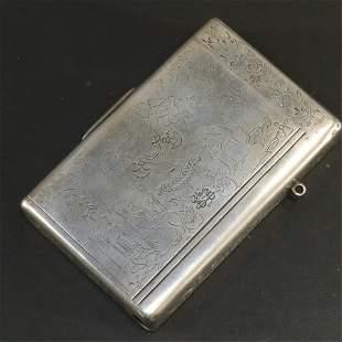 Russian Silver Tobacco Box - St Petersburg, 19th C