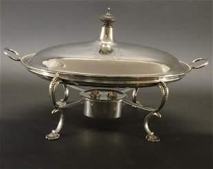 George III Silver Warming Dish - London, 1776