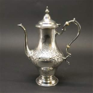 Gorham Sterling Silver Hand Chased Coffee Pot