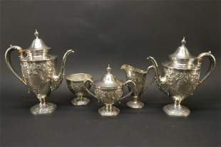 Frank M. Whiting - Sterling Tea & Coffee Service