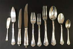 Emile Puiforcat Richelieu Sterling Flatware Svc