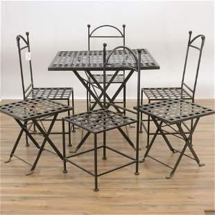 Neoclassical Style Metal Garden Furniture Set