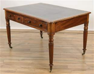 Late William IV Mahogany Writing Desk, 19th C.