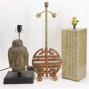 Thai Carved Stone & Asian Style Lamps