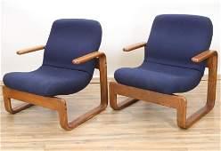 Pr of Kimball Danish Style Armchairs