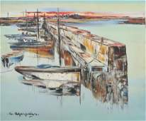 Charles Charpides - Dock with Boats