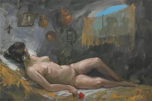 Jose Puente - Reclining Nude