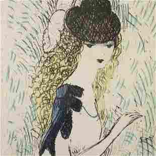 Marie Laurencin - Petite Fille, etching