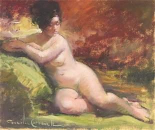Rosendo Gonzalez Carbonell - Reclining Nude