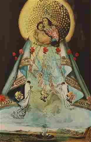 Salvador Dali - Virgin of Guadalupe, hand signed