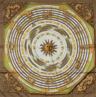 Hermes Silk Scarf - Astrologie, Dies et Hore