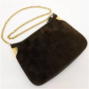 Gucci Suede Monogram Bag