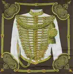 Hermes Silk Scarf - Brandebourgs