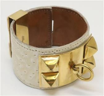 Vintage Hermes Whale Collier de Chien Bracelet
