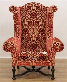 Lee Jofa William and Mary Style Wing Chair