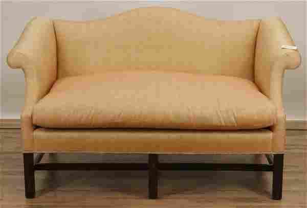 George III Style Mahogany Love Seat