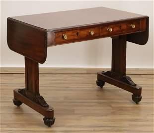 Late Regency Mahogany Sofa Table, Early 19th C.