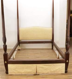 Hepplewhite Style Mahogany Queen Bed