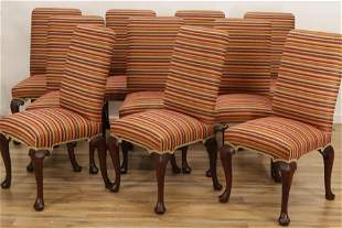 10 Queen Anne Style Mahogany Dining Chairs