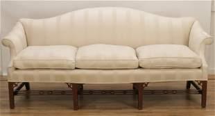 Margolis Chinese Chippendale Camelback Sofa