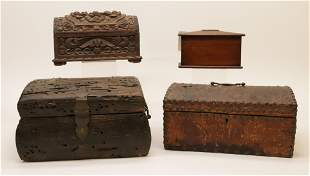 4 Various Document Boxes & Piggy Bank