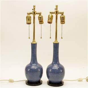 Pair of Asian Style Ceramic Table Lamps