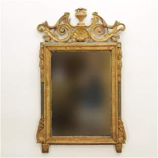 Louis XV Gilt & Green Painted Mirror, Late 18th C.