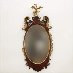 George III Parcel Gilt Mahogany Mirror