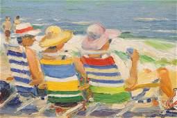 "Douglas Smith, ""Beach Trio, Watch Hill"" , Oil"