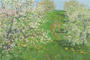 """Douglas Smith, """"Apple Orchard In Bloom"""" O/L"""