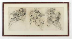 Andrew Hart Adler - Abstract Figural Triptych